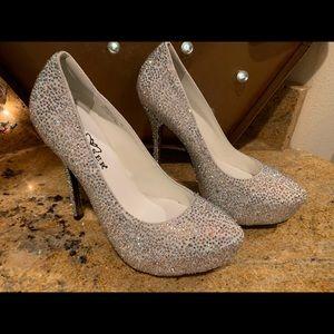 New Pleaser Rhinestone Heels Size 5
